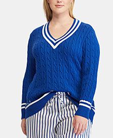 Lauren Ralph Lauren Plus Size Cotton Cricket Sweater
