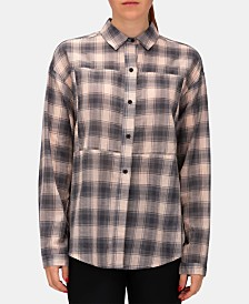 Hurley Juniors' Wilson Cotton Plaid Shirt