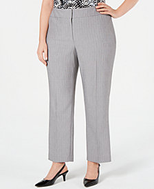 Kasper Plus Size Ankle Pants