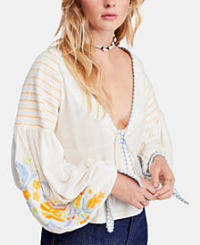 Free People Embroidered Kara Top