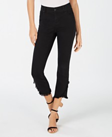 I.N.C. Curvy Cropped Tulip-Hem Skinny Jeans, Created for Macy's
