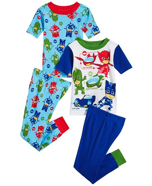 AME PJ Masks Toddler Boys 4-Pc. PJ Masks Cotton Pajama Set
