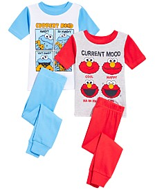 Sesame Street Toddler Boys 4-Pc. Sesame Street Cotton Pajama Set