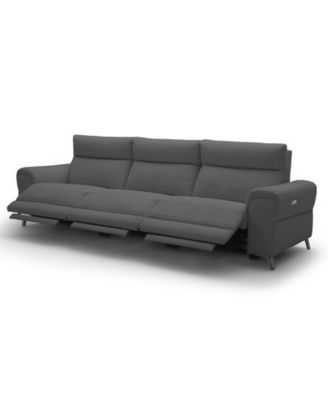 "Raymere 119"" 3-Pc. Fabric Sofa with 3 Power Motion & Power Headrests"