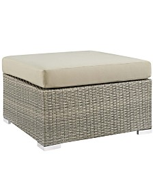 Modway Repose Sunbrella® Fabric Outdoor Patio Ottoman