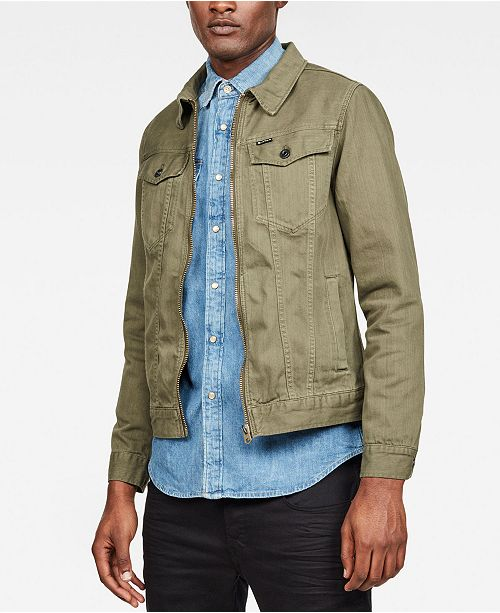 578eed9a ... G-Star Raw Men's 3301 Slim-Fit Textured Denim Jacket, Created for  Macy's ...