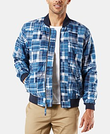Men's Patchwork Bomber Jacket
