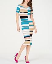 ed6ac949a8 I.N.C. Petite Colorblocked Short-Sleeve Sweater Dress