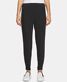 1.STATE Ribbon-Trim Jersey Track Pants