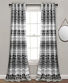 "Hygge Geo Room Darkening Window Curtain Panels Set, 84"" x 52"""