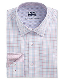 of London Men's Slim-Fit Window Pane Dress Shirt