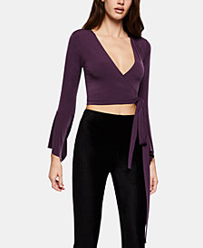 BCBGeneration Wrap Crop Top