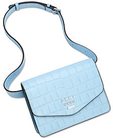 DKNY Whitney Leather Croc Belt Bag, Created for Macy's