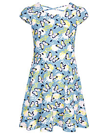 Epic Threads Super Soft Big Girls Butterfly-Print Fit & Flare Dress, Created for Macy's