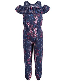 Epic Threads Toddler Girls Floral-Print Jumpsuit, Created for Macy's