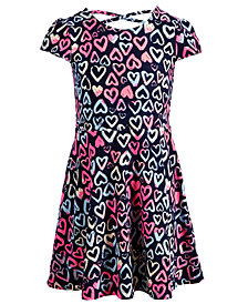 Epic Threads Super Soft Little Girls Heart-Print Fit & Flare Dress, Created for Macy's