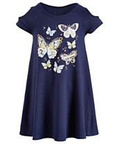 21489a24f56e Epic Threads Super Soft Toddler Girls Butterfly Cold-Shoulder Dress