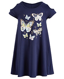 Epic Threads Super Soft Toddler Girls Butterfly Cold-Shoulder Dress, Created for Macy's