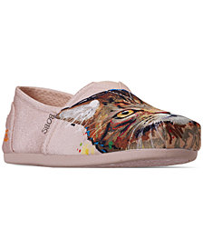 Skechers Women's Bobs Plush - Cats Rule Bobs for Dogs and Cats Casual Slip-On Flats from Finish Line