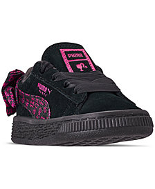 Puma Toddler Girls' Suede Barbie Casual Sneakers from Finish Line