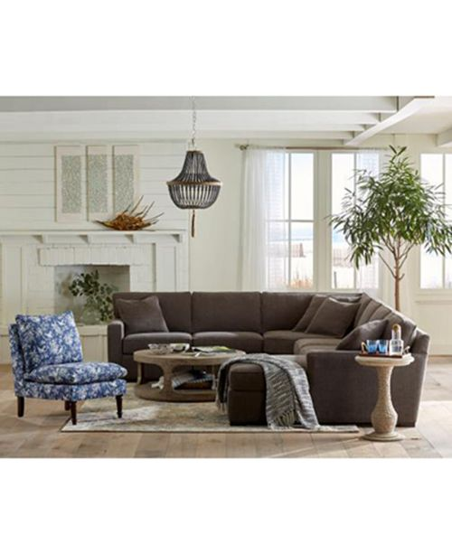 The Look Radley 5 Piece Fabric Chaise Sectional