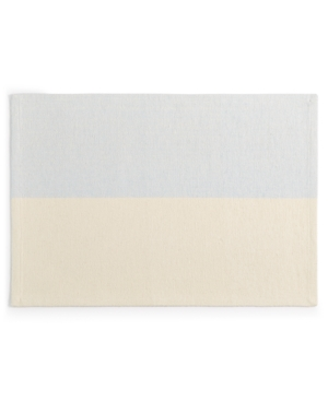 Closeout! Martha Stewart Collection Color Block Blue Placemat, Created for Macy's