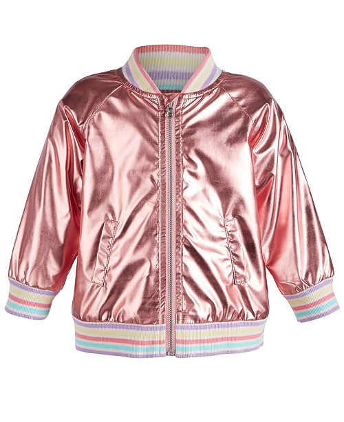 765c924db ... First Impressions First Impression Baby Girls Metallic Bomber Jacket,  Created for Macy's ...