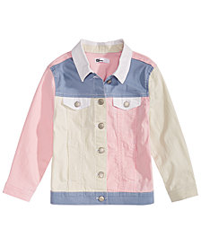 Epic Threads Big Girls Loved Colorblocked Cotton Denim Jacket, Created for Macy's