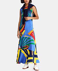 Polo Ralph Lauren A-Line Sailboat Silk Dress