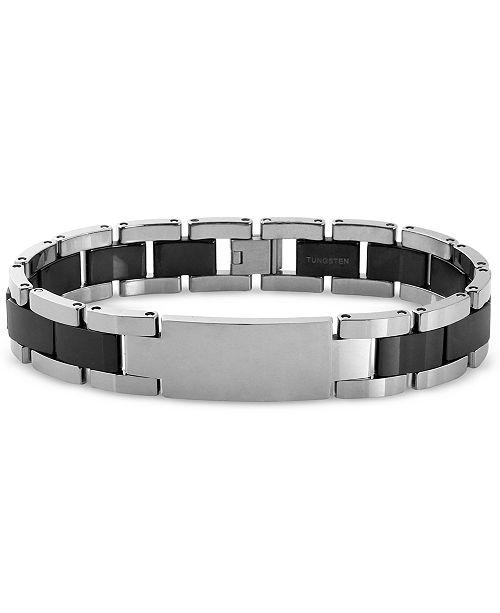 Macy's Men's ID Bracelet in Tungsten