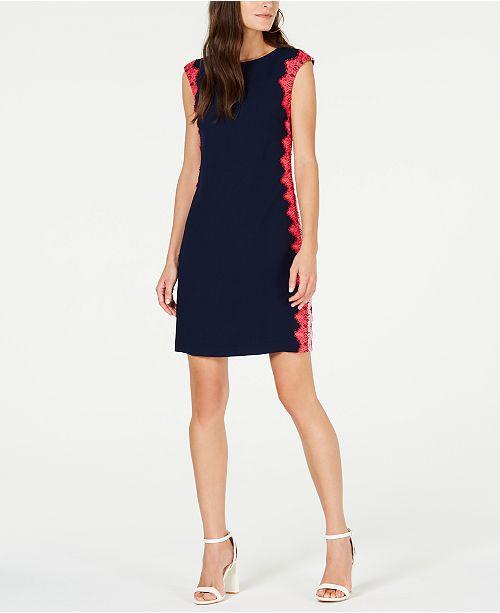 Trina Turk Whim Lace-Trim Sheath Dress - Dresses - Women - Macy s dd733e394