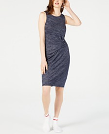 Bar III Heathered Ruched Dress, Created for Macy's