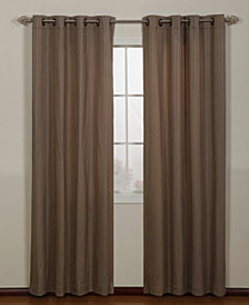 "Armant Grommet Single Curtain Panel, Gold, 54 x 63"""
