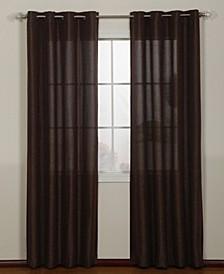 "Lancer Grommet Single Curtain Panel, Gold, 54 x 63"""