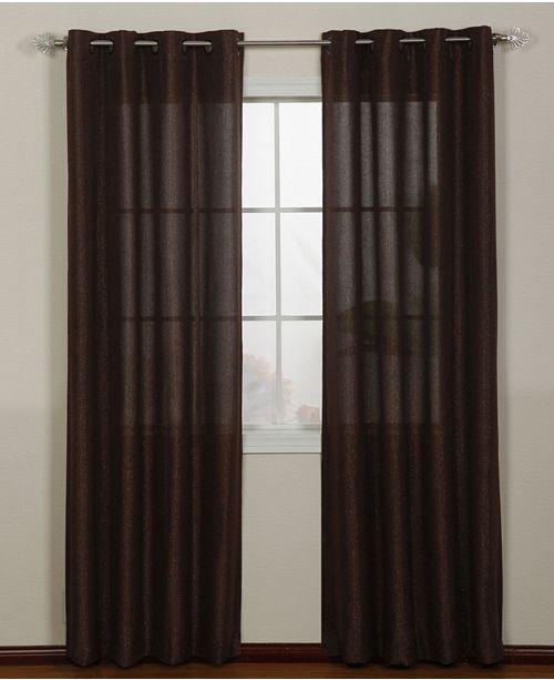 """Nanshing Lancer Grommet Single Curtain Panel, Gold, 54 x 63"""""""