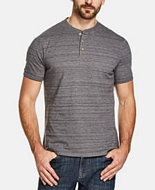 Men's Melange Henley Shirt