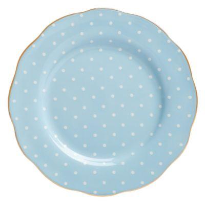Polka Blue Salad Plate