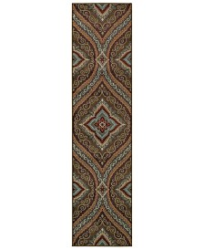 "CLOSEOUT! Oriental Weavers  Adrienne 4145E Multi/Multi 1'10"" x 7'6"" Runner Area Rug"