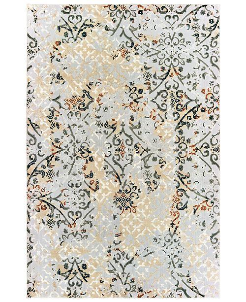 """Oriental Weavers Bowen 108W2 Gray/Gold 3'10"""" x 5'5"""" Area Rug"""