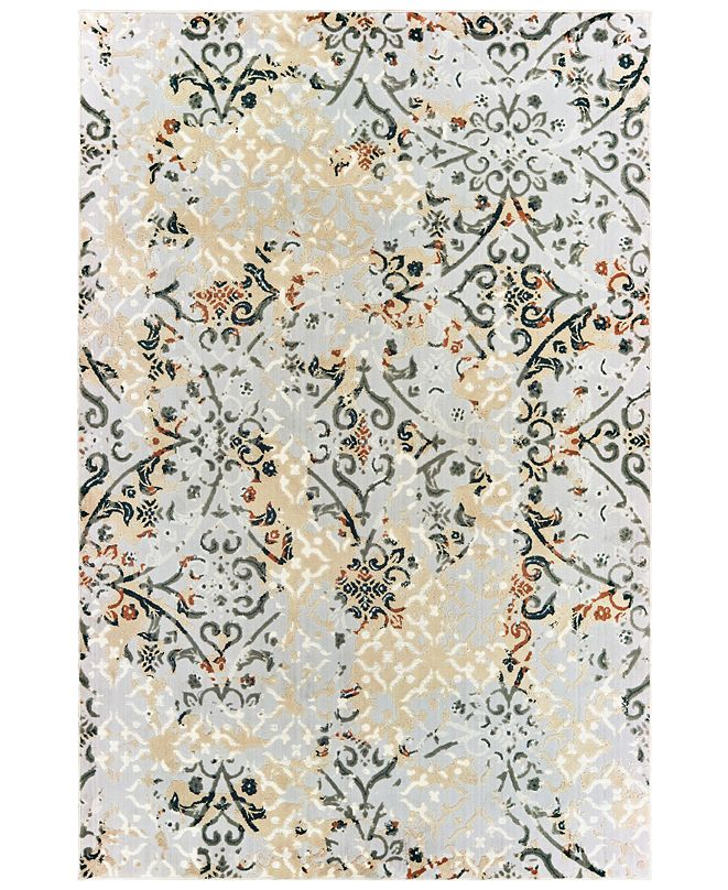 "Oriental Weavers Bowen 108W2 Gray/Gold 5'3"" x 7'6"" Area Rug"