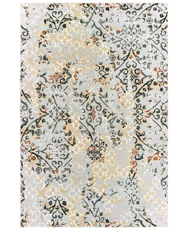 """Oriental Weavers Bowen 108W2 Gray/Gold 2'3"""" x 7'6"""" Runner Area Rug"""