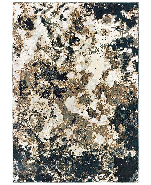 "Oriental Weavers Bowen 1808Q Navy/Gold 9'10"" x 12'10"" Area Rug"