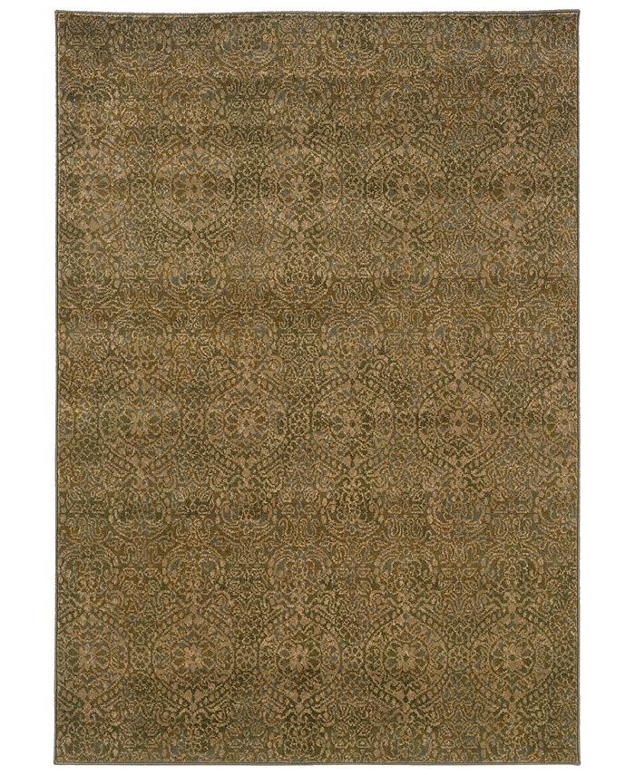 "Oriental Weavers - Casablanca 4441C Beige/Blue 1'10"" x 3'3"" Area Rug"