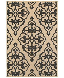 "Oriental Weavers Cayman 001B9 Sand/Charcoal 7'10"" x 10'10"" Indoor/Outdoor Area Rug"