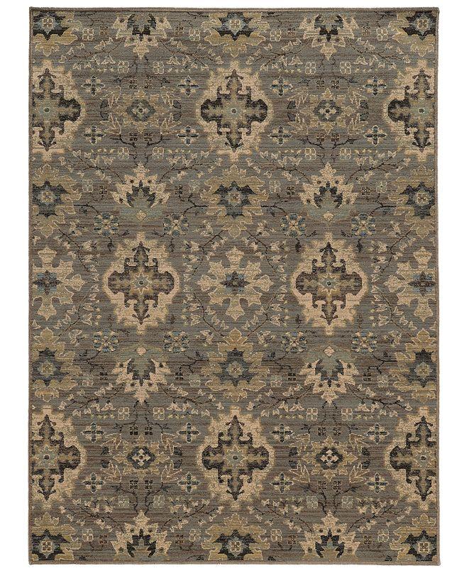 "Oriental Weavers Heritage 8028E Blue/Ivory 3'10"" x 5'5"" Area Rug"