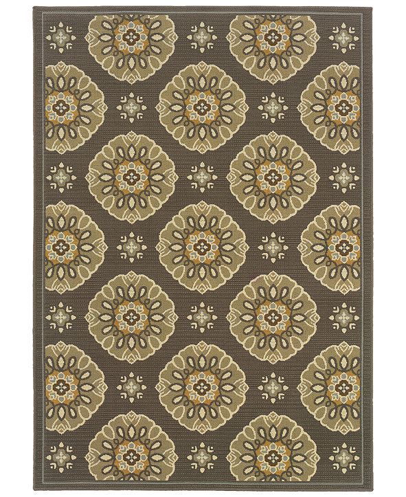 "Oriental Weavers Bali 5863N Gray/Gold 3'7"" x 5'6"" Indoor/Outdoor Area Rug"