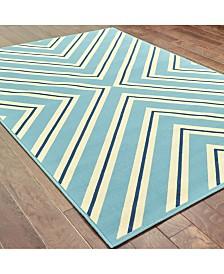 """Oriental Weavers Riviera 4589 7'10"""" Indoor/Outdoor Round Area Rug"""