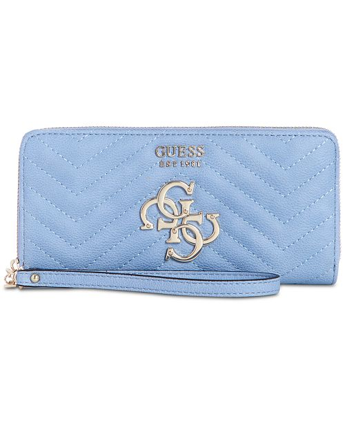 bca7e53d4927 GUESS Violet Zip Around Wallet & Reviews - Handbags & Accessories ...