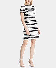 Lauren Ralph Lauren Petite Crochet-Striped Dress
