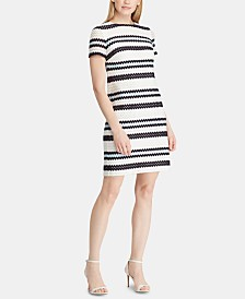 Lauren Ralph Lauren Petite Crochet-Striped Dress